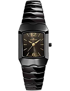 Dugena Damen-Armbanduhr Keramikuhren Analog Quarz Keramik 4460538