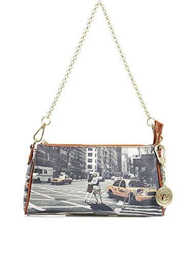 Y NOT? - Borsa da donna pochette con tracolla e catenella g-313 new york walk in n.y.