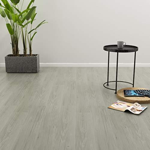 Tidyard- PVC Laminat Dielen Selbstklebend 4,46 m² Grau PVC Laminate Floorboards Self-Adhesive Non-Slip Vinyl Flooring Floor Flooring Design Flooring Plank Flooring Wide Plank -