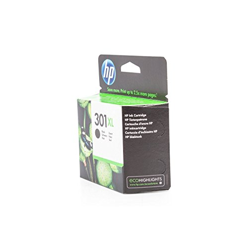 HP Original Tinte passend DeskJet 3050 se 301, 301XL, 301XLBK, 301XLBLACK, NO301XL, NO301XLBK, NO301XLBLACK CH563EE - Premium Drucker-Patrone - Schwarz - 480 Seiten - 8 ml
