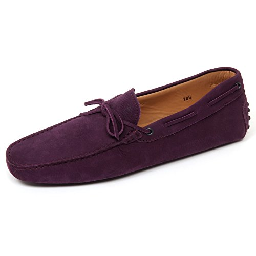 D0382 mocassino uomo TOD'S scarpa new laccetto viola loafer shoe man Viola
