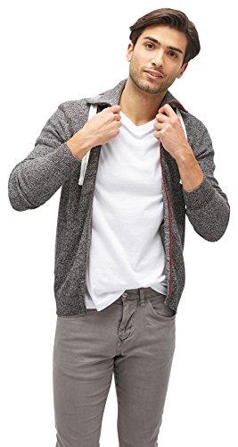 TOM TAILOR Herren Pullover Casual Zip Jacket Black