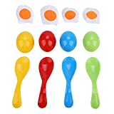 Cucchiaio Uovo Giocattolo per Bambini Giocattolo Equilibrio Formazione Gioco di Corse per Bambini Festa All'aperto