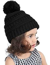 JDYW Bambino Cappello Pom Cappello Bobble Cappellino per Cappellino Pom  Winter Berretto in Maglia Caldo per Bambini… 6a08f952bba2
