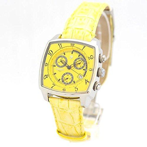 Lancaster Orologio unico Yellow quarzo Chrono data in pelle, Donna Alla Moda Orologio da polso 0262per Sgel