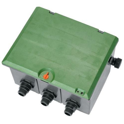 Preisvergleich Produktbild GARDENA G1257-20 pre-montada vías para colocar 3 electroválvulas de 9 ó 24 V. Arqueta, Standard