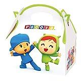 ALMACENESADAN 0652, Pack 6 carton boxes for Pocoyo and Nina sweets, for parties and birthdays