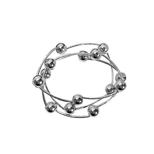 UEVOS Armbänder Armreif Damen Ketten Drei-Schicht Perlen Armband Halskette Dual-Use Elastic Female Trend Persönlichkeit Armband Geschenk für Paare Freundschaftsarmband