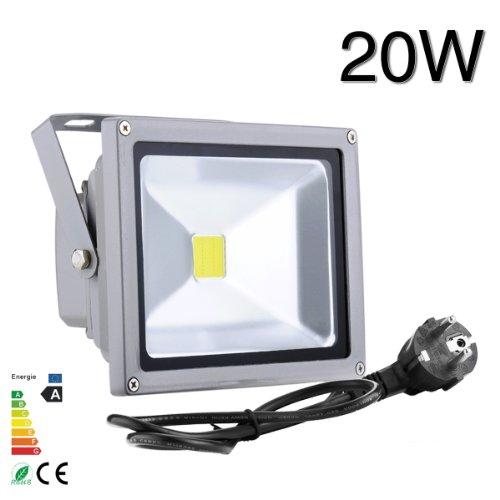 10W/20W/30W/50W/100W LED focos blanco frío reflector Versátil Proyector Lámpara Exterior Resistente al...