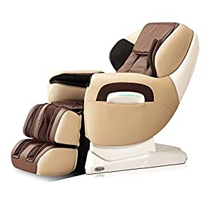 Titan Pro TP-8400 Cream/Brown Zero Gravity L-Track Recliner Massage Chair