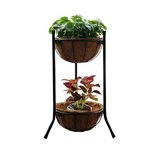 Stand De Fleurs Plateau De Plantation Pot De Légumes Art De Fer Multicouche À L'intérieur Et À L'exterieur Balcon