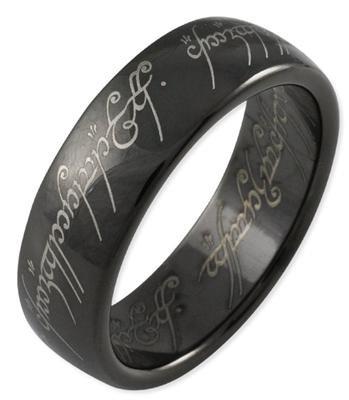Schmucktrendzone Tungsten Ring, Herr der Ringe Schmuck, Der eine Ring, antiallergen, 6,5 mm, Nr. 90006653