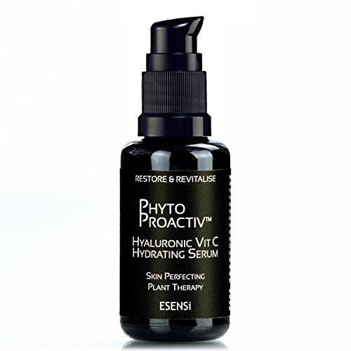 Esensi Hyaluronic Acid Face Serum: Pflanzliches Anti-Aging Feuchtigkeitsserum mit Vitamin C (Vitamin Facial C Men Serum)