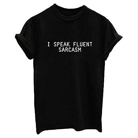 Etosell Femmes Casual Manches Courtes Chemises Coton Imprime T-Shirts S-2XL