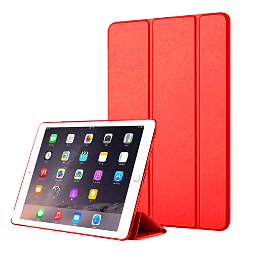 fitmore iPad Pro 11 Inch 2018 Case Ultra-Thin PU Leather Tablet Case Flip Stand Cover with Auto Wake/Sleep Function Red - Red Pro Guard Case
