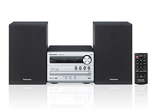 Panasonic SC-PM250B Micro HiFi(mit CD,UKW/DAB+, Bluetooth, USB, 20 Watt RMS) silber