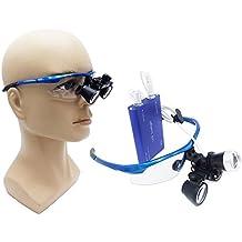 BoNew-Oral 3W LED Faro Lámpara con 2,5 × 420 mm quirúrgico médico Binocular Lupas Óptico Gafas