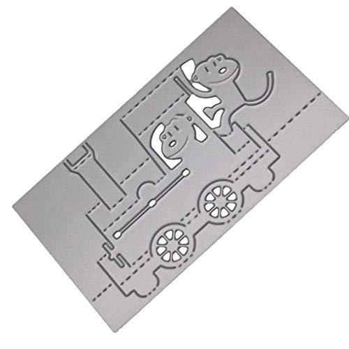 Provide The Best Zug-Karikatur Schneideisen Stencil Scrapbooking Embossing Album Crafts Papierkarte Carbon Steel DIY Werkzeug