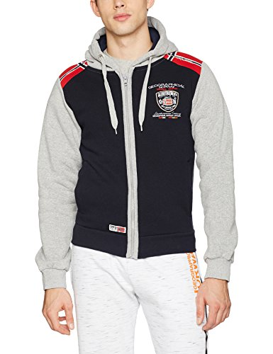Geographical Norway Finion Men, Maglieria Sportiva Uomo Blau (Navy/Blended Grey)