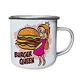 Burger Queen Huge Burger Retro, Zinn, Emaille 10oz/280ml Becher Tasse ee926e