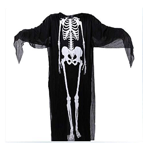 Skelett Candy Kostüm - Asdsda Halloween Skelett Kostüm, Maskerade, Rollenspiele, Party, Nightclub Bar Horror Kostüm,Black,XS