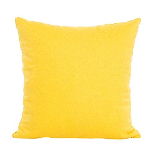 Kissenbezug 43 x 43 cm,Robemon Mode quadratisch Kissenbezug Kissen Einfarbig Verstecktem Reißverschluss Sitzkissenbezüge Couchkissen -