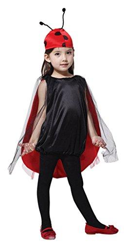 Lukis Kinder Mädchen Marienkäfer Kostüm Halloween Fasching L 7-9 Jahre Alt
