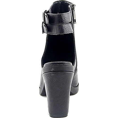 Chinese Laundry Ambrosia Femmes Gris Cuir Chaussure Plate Bohemia Black