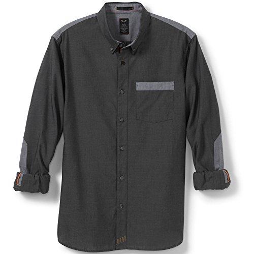 Oakley Icon Block Woven, jet black nero (Oakley Woven Shirt)