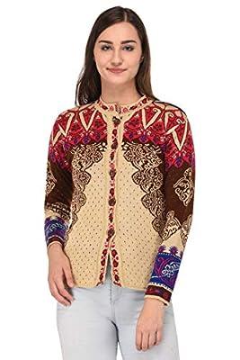 eWools Woolen Multicolor Cardigan Top Sweater