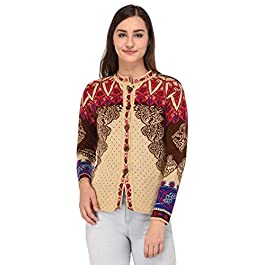 eWools Woolen Multicolor Cardigan Top Sweater