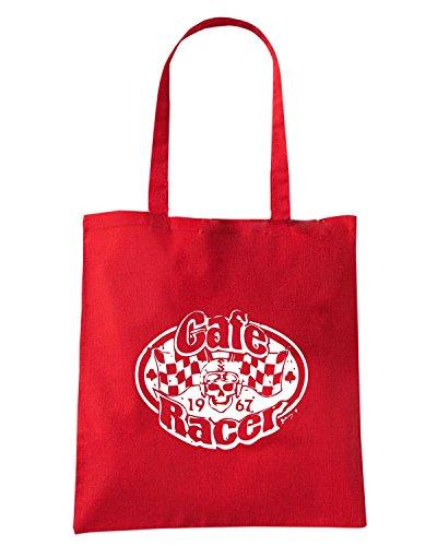 T-Shirtshock - Borsa Shopping TB0172 cafe racer vintage Rosso