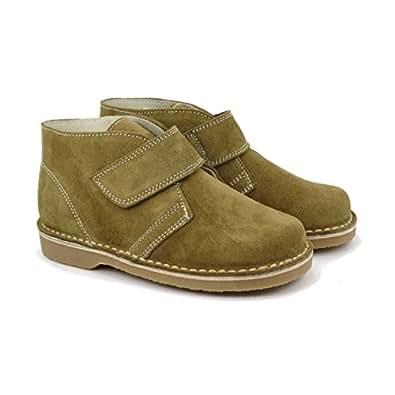 Boni Marius - Chaussures enfant cuir scratch - Vert - 25
