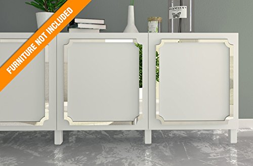HomeArtDecor - Aveiro Laubsägearbeiten - Geeignet für IKEA Besta - Hochwertiges Overlay - Möbelauflagen - Spiegelmöbel - Möbel Applikationen - Möbel Dekoration - Überholt - Dekor -