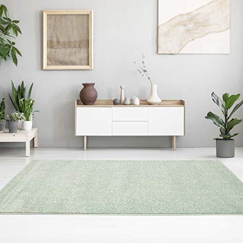 MyShop24h - Alfombra Lisa, Moderna, Colores Pastel, Lisa, Suave y Brillante, para salón o Dormitorio...