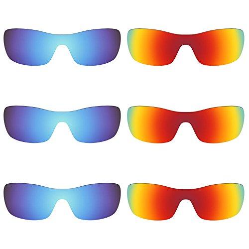 Revant Ersatzlinsen für Oakley Antix Polarisiert 6 Paar Kombipack K029
