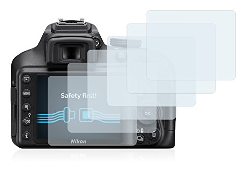 Savvies Pellicola Protettiva Compatibile con Nikon D3400 Protezione Schermo