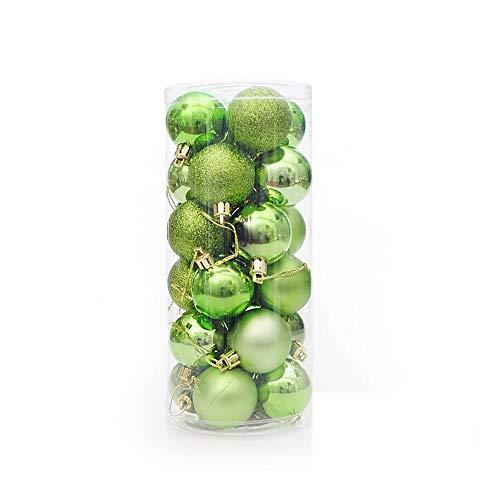Multi Color Christmas Tree (Yao 24PCS/Set Christmas Tree Ornament Multi-Color Christmas Ball Plastic Gift Ball Green)