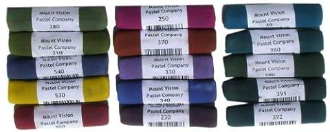 Mount Vision Soft Pastel : Set of 15 : Dark Tones