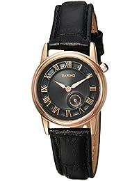 Naivo Women's Quartz Leather Casual Watch, Color:Black (Model: NAIVO-WATCH-1059)