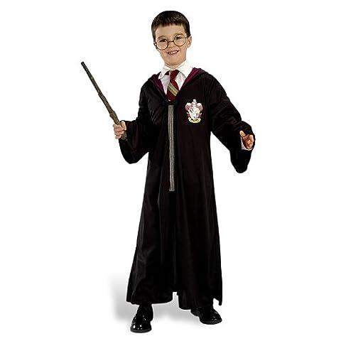 Harry Potter Kostüm Set Robe Brille Zauberstab (Harry Potter Umhang)