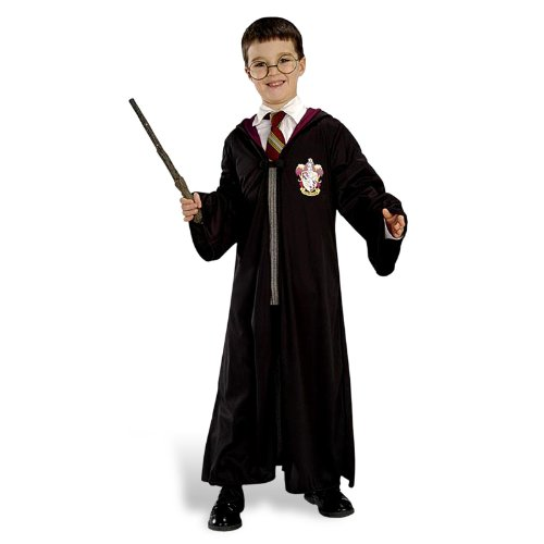 Set Robe Brille Zauberstab (Harry-potter-halloween-kostüme)