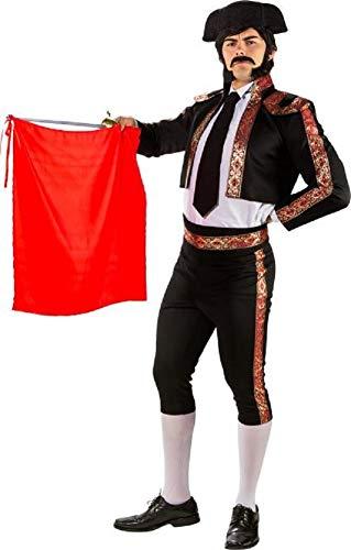 Fancy Me Herren Deluxe Black Matador Spanish Bull Fighter International Around The World Karneval Kostüm - Bull Fighter Kostüm