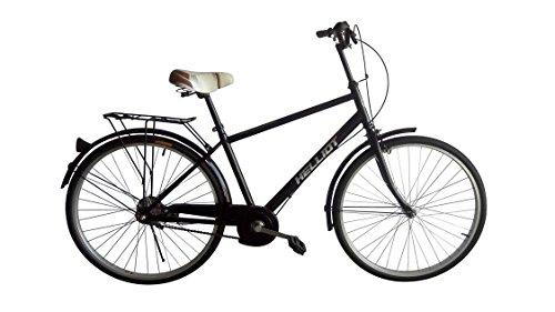 Helliot Bikes Paseo04 Bicicleta de Ciudad, Unisex Adulto, Negro, Estándar