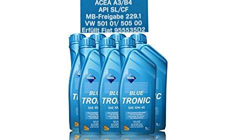 7x 1 L LITER ARAL BLUETRONIC BLUE TRONIC 10W-40 MOTOR-ÖL MOTOREN-ÖL 31736544