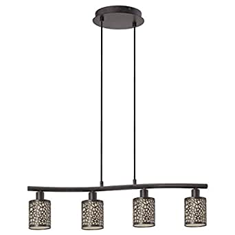 Suspension Almera marron antique 4x40w - EGLO LIGHTING