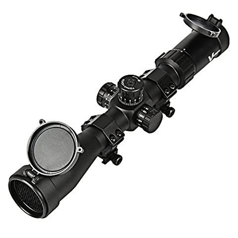 Vanstarry Optics 4-16x44SF 30MM Tube Mil-Dot Reticle Hunting Riflescope With a Honeycomb Sunshade Killflash,Side Focus Knob,Black Matte (With
