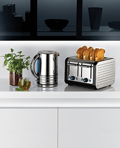 Dualit Architect  4-Slot Toaster 40505 - Stainless Steel with Black Finish