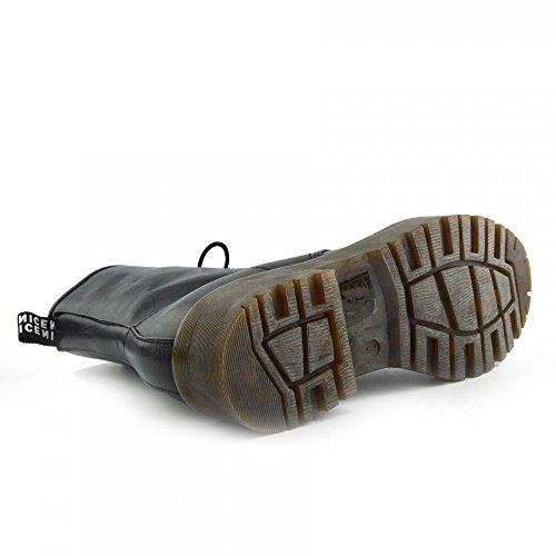 Kick scarpe da donna pizzo caviglia retro da bagagliaio da donna funky vintage fangbanger martin caviglia bagagliaio Black Chunky Sole