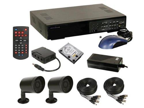 Pack Videoüberwachung: DVR H.264+ 2Kameras IR + Zubehör + HD 500GB cctvprom13 - Dvr-pack